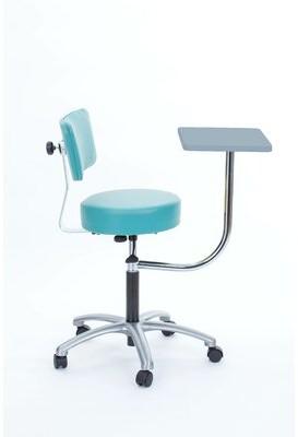 Symple Stuff Strohm Height Adjustable Stool with Desk Symple Stuff Color: Tea Rose
