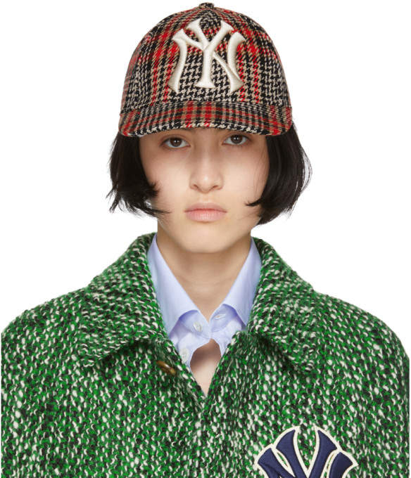 Gucci Multicolor NY Yankees Edition Plaid Patch Cap