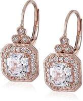 Swarovski La Lumiere Platinum Plated Sterling Silver Made with Cubic Zirconia from Asscher-Cut Antique Drop Earrings