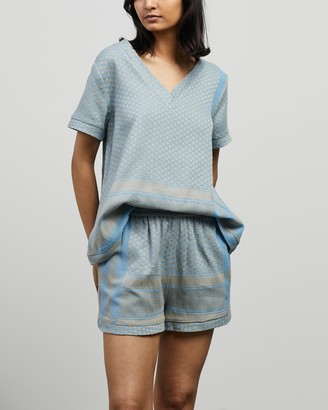 Cecilie Copenhagen Women's Blue Shirts & Blouses - Shirt V SS - Size XS at The Iconic