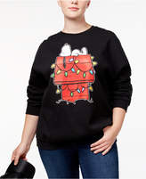 Hybrid Trendy Plus Size Snoopy Graphic Sweatshirt