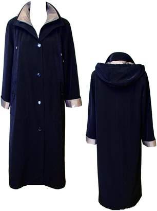 Gallery Women's Full Length Button Front Raincoat Detachable Hood