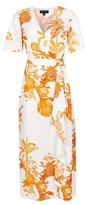 Dorothy Perkins Womens Cream And Coral Parrot Print D