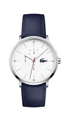 Lacoste Stainless Steel Quartz Watch with Leather Strap