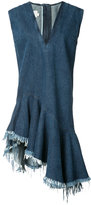 Marques Almeida Marques'almeida - stonewashed denim V-neck dress - women - Cotton - XS