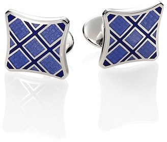 David Donahue Plaid Sterling Silver Cuff Links