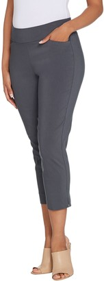 Susan Graver Regular Uptown Stretch Pull-On Crop Pants