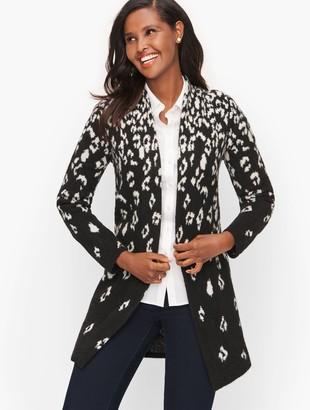Talbots Open Front Cardigan - Leopard Print