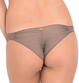 Luli Fama Cosita Buena Strappy Brazilian Ruched Back in Sandy Toes (L17620)