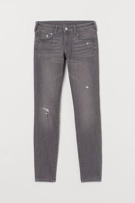 H&M Super Skinny Low Jeans - Gray