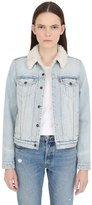 Levi's Faux Shearling & Cotton Denim Jacket