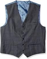 Alexander Julian Colours Men's Big and Tall Modern Fit Check Suit Separate Vest