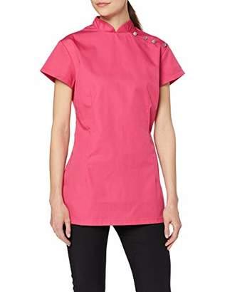 "Alexandra Beauty Salon Uniform Tunic NF959 - Size: size 12/34.5"" / 88cm - Color: bright pink"