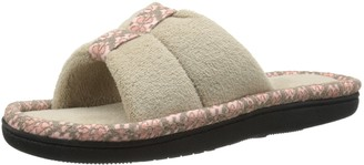 Isotoner Signature Women's Lace Bonnie Slide with Keeper Flat