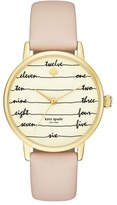 Kate Spade 'metro - Chalkboard' Leather Strap Watch, 34mm
