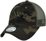 New Era Women's Camo Navy Midshipmen Trucker 9TWENTY Adjustable Hat
