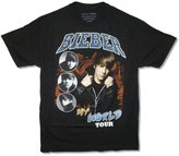 Justin Bieber Vintage My World Tour Pics Adult T Shirt (XL)