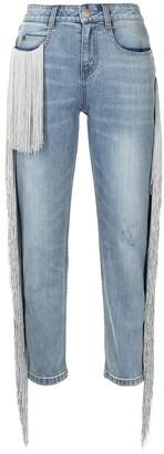 Hellessy Beau fringe-embellished jeans