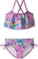 Kanu Surf Big Girls' Ariel Flounce Bikini Swimsuit