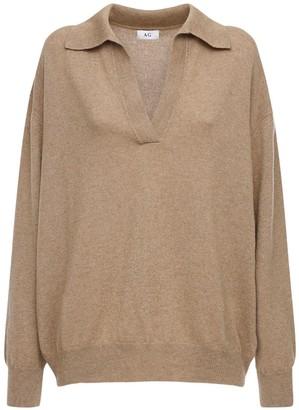 AG Jeans V Neck Cashmere Knit Sweater