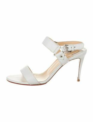 Christian Louboutin Leather Sandals White