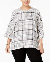 Anne Klein Plus Size Printed Top