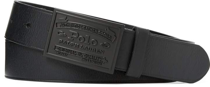 18b600aaa2 Polo Metal-Plaque Buckle Belt