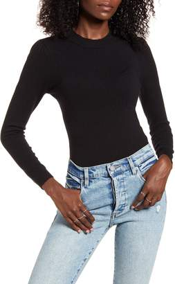 4SI3NNA the Label Alexa Crewneck Long Sleeve Bodysuit