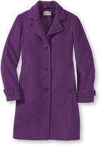 L.L. Bean Womens Classic Lambswool Polo Coat, Three-Quarter-Length