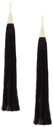 Eddie Borgo long silk tassel earrings