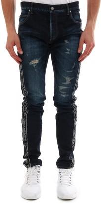 Balmain Distressed Side Logo Jeans