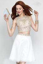 Alyce Paris - 3691 Two Piece Short Dress In Diamond White