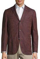 Boglioli Mohair Blend Long Sleeve Jacket