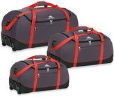 High Sierra 30-Inch Wheel-N-Go Duffle Bag in Red