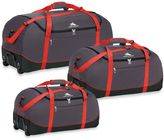 High Sierra Wheel-N-Go Duffle Bag in Red