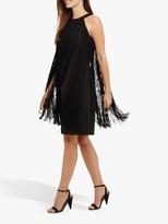 Phase Eight Katie Fringe Dress, Black