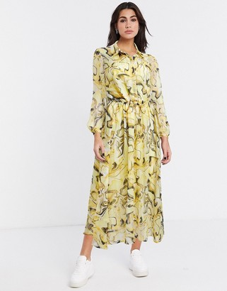 InWear Reema printed midi dress in multi
