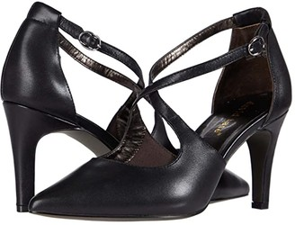 David Tate Aurora (Black Leather) Women's Shoes