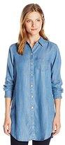 Foxcroft Women's Long Sleeve Denim Tencel Tunic
