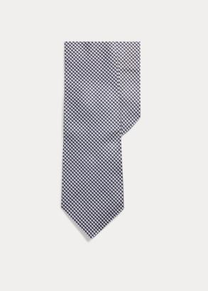 Ralph Lauren Glen Plaid Silk Narrow Tie