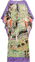 Etro Metallic Silk-blend Jacquard Kaftan - Purple