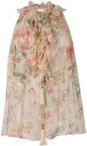 Zimmermann floral halterneck blouse