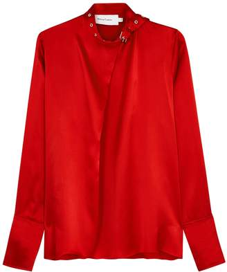 Marques Almeida Marques' Almeida MARQUES' ALMEIDA Red Silk Blouse