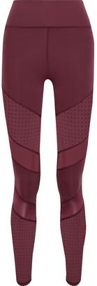 Iris & Ink Paneled Perforated Stretch Leggings
