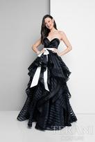 Terani Prom - Sheer Striped Sweetheart Ballgown 1711P2246