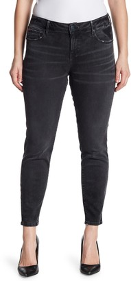 SLINK Jeans Whiskered Ankle Crop Jeggings (Plus Size)