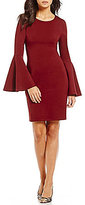 Sugar Lips Sugarlips Bell Sleeve Sheath Dress