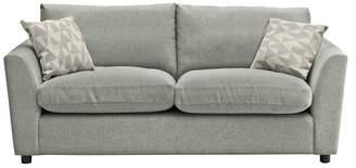 Argos Home Carter 3 Seater Fabric Sofa - Light Grey