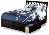 Atlantic Orleans Espresso Panel Full-size Bed with Trundle Bed