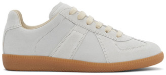 Maison Margiela Grey Waxy Suede Replica Sneakers